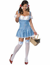 Ladies Sexy Licensed Official Wizard of Oz Dorothy Fancy Dress Outfit Costume