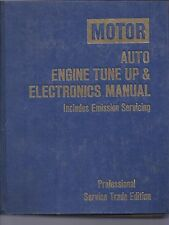 MOTOR AUTO ENGINE TUNE UP AND ELECTRONICS MANUAL 1979-85
