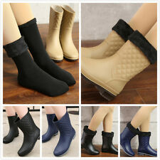 Ladies Women waterproof Wellies Wellington boots rain boots Thicken Water shoes