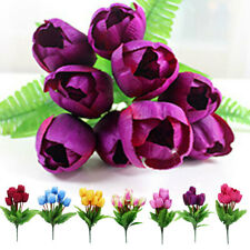 Artificial Floral 9-head Silk Tulip Flower Orchid Garden Christmas Table Decor