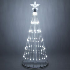 christmas light show tree led cool white animated outdoor lightshow decoration