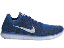NEW MENS NIKE FREE RN FLYKNIT RUNNING SHOES TRAINERS COASTAL BLUE / SQUADRON BLU