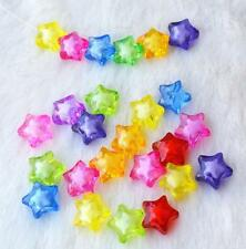 50/100Pcs Random Mixed Star Loose Spacer Beads Charms Jewelry Making DIY