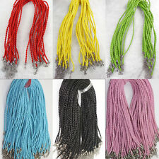 Wholesale Leather Braid Rope Hemp Cord Lobster Clasp Chain DIY Necklace Bracelet
