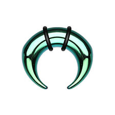 Green Colorline Pincher Steel Ear Guge Buffalo Taper Sold by Pair