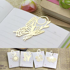 Butterfly Clover Gold Metal Clip Kid Reading Book Magazine Mark Label Bookmark