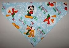Christmas Mickey Mouse Dog Bandana Scarf -Slide over Collar- Size Small - XLarge