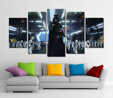 Framed Wall Canvas Art - Star Wars Darth Vader Stormtrooper Canvas Print