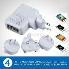 4 Port USB AC Adapter Plug Home Travel Wall Charger For iPhone iPad Samsung Plus