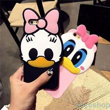 For iPhone 7 Plus 6 6S 6 Plus Cute 3D Daisy Donald Duck Soft Silicone Case Cover