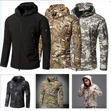 Men Military Army Camo Combat hooded Hunting Camo coat Fleece Camouflage outwear