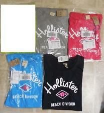New HOLLISTER Beach Division Tee Womens Jrs M L Pink Gray Blue U Pick NWT Authe