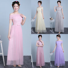 Women's Ladies Formal Wedding Bridesmaid Dress Evening Party Cocktail Long Gown