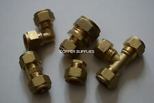8mm Brass Compression Fittings-Straight Elbow ,tee,plumbing,copper pipe,job lot