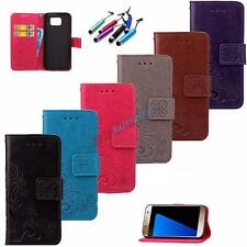 For Samsung+Gift Hot Protector Flip Stand Leather Card Hoder Wallet Case Cover
