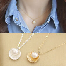 Shell Bead Clavicle Necklace Metal Chain Fashion Jewelry Pendant Necklaces  IO