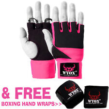WyoX Inner Fist Padded Gloves MMA, UFC, Boxing Mitts + FREE Hand Wraps Pair