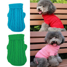 Small Pet Sweater Puppy Dog Cat Winter Warm Apparel Costumes Clothes Knit Coat