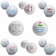 Personalised Gifts, Golf Balls, Birthday, Keepsake, For Him, Fathers Day, Dad.