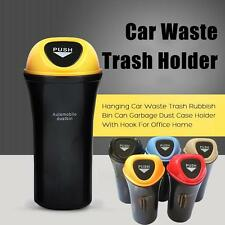 Newly Hanging Car Waste Trash Rubbish Bin Can Garbage Dust Case Holder With Hook