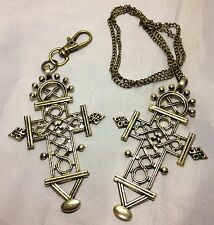 Large Celtic Cross Style Charm Either Necklace or Handbag Charm