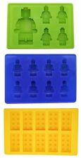 Lego Yellow Brick Blue Green Multi-size Minifigure Silicone Ice Tray Candy Mold