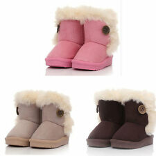Children Non Slipping Fur Winter Girls Boy Kids Thicken Warm Shoes Snow Boots WA