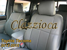 2012-2015 TOYOTA TACOMA DOUBLE CAB | CLAZZIO LEATHER SEAT COVER (1ST+2ND ROWS)
