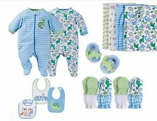 NEW GERBER Newborn Baby Boy Sleeper Pajama Footed Dino Mix /Match Set Size 0-3