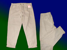 beige Women's trousers Linen Pants Or Casual Summer Size 36-48 NEW