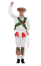 Adult Mens Morris Dancer Fancy Dress Costume Stag Night Outfit