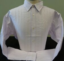 NEW MENS BANANA REPUBLIC L/S SLIM FIT STRIPES DRESS SHIRT, WHITE, PICK A SIZE