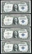 (4) CONSECUTIVE 1935 PLAIN $1 ONE DOLLAR SILVER CERTIFICATES UNCIRCULATED