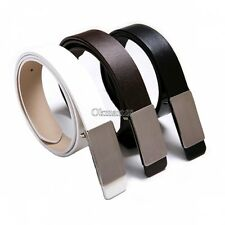 New Mens Metal Buckle Leather Formal Waist Strap Belts Buckle Belt Fashion OK