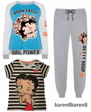 Primark Ladies BETTY BOOP Pyjamas T SHIRT JOGGERS LOUNGE JUMPER