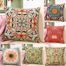 Retro Chinoiserie Embroider Flower Pillow Case Throw Cushion Cover Decorate Sofa