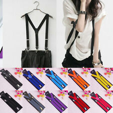 Fashion Elastic Y-Shape Braces Women's Unisex Clip-on Suspenders Mens Adjustable