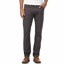 Rjr.John Rocha Mens Dark Grey Slim Trousers From Debenhams