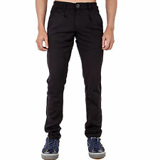 New Mens Skinny Slim Fit Black Trousers Smart Casual Pants All Waist Sizes
