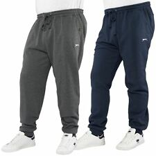 Slazenger Mens Plus Size Cuffed Jogger Casual Sweat Pants Sizes 2XL – 5XL