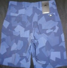 MENS J LINDEBERG TRUE Regular Fit Micro Stretch Flat Front Golf SHORTS,NAVY CAMO