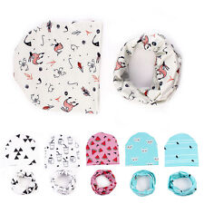 Infant Kids Baby Boys Girls Soft Hat Cap+Bib Towel Head Scarf New Fashion 1 Set