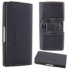 Universal Leather Mobile Belt Loop Hip Pouch Case Cover for Mobile Cell Phones