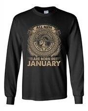 Long Sleeve Adult T-Shirt Capricorn All Men Are Created Best Born In January DT