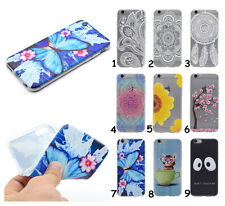 Flower Butterfly Cat Rubber Soft TPU Phone Case Clear Cover For Samsung Galaxy