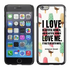 Hard Phone Case Cover Skin For Apple 79 Trump drawing colors ice-cream