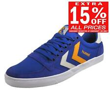 Hummel Slimmer Stadil Duo Lo Mens Retro Classic Casual Trainers Blue