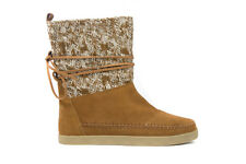 Toms Women's Nepal Boot Chestnut Cable Knit Suede BNIB SZ 5-10 Free Shipping