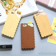 Cute Cartoon Rilakkuma Bear Biscuit soft rubber case cover for iphone 7 7 Plus