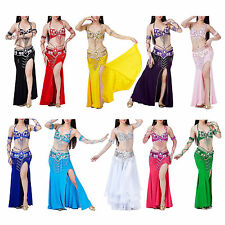 Belly Dance Costume 3X Bra Belt Skirt Sexy Dancing women Set bellydance wear F6
